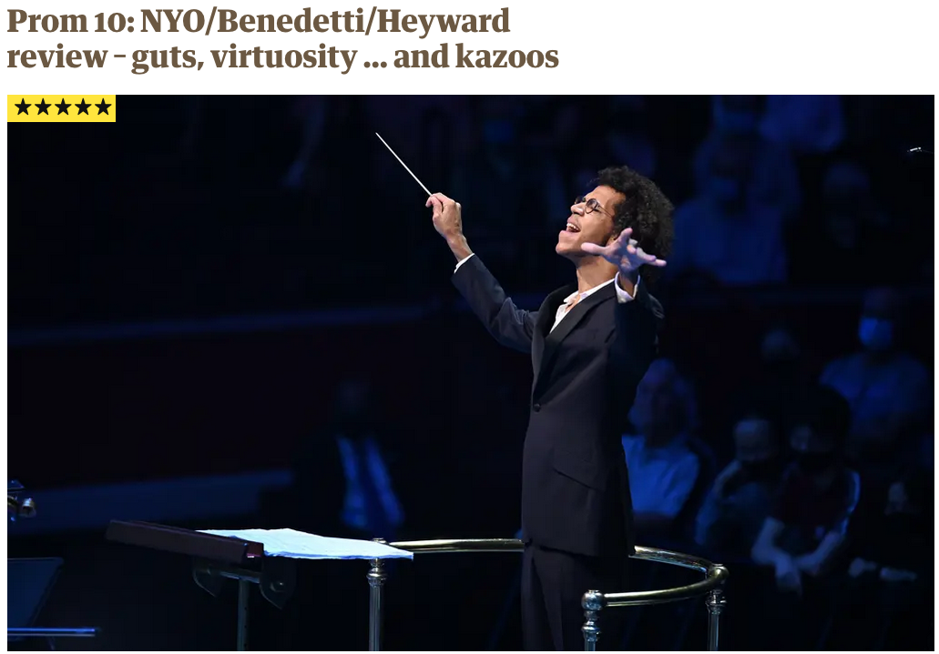 Five Star Guardian Review for BBC Proms Debut